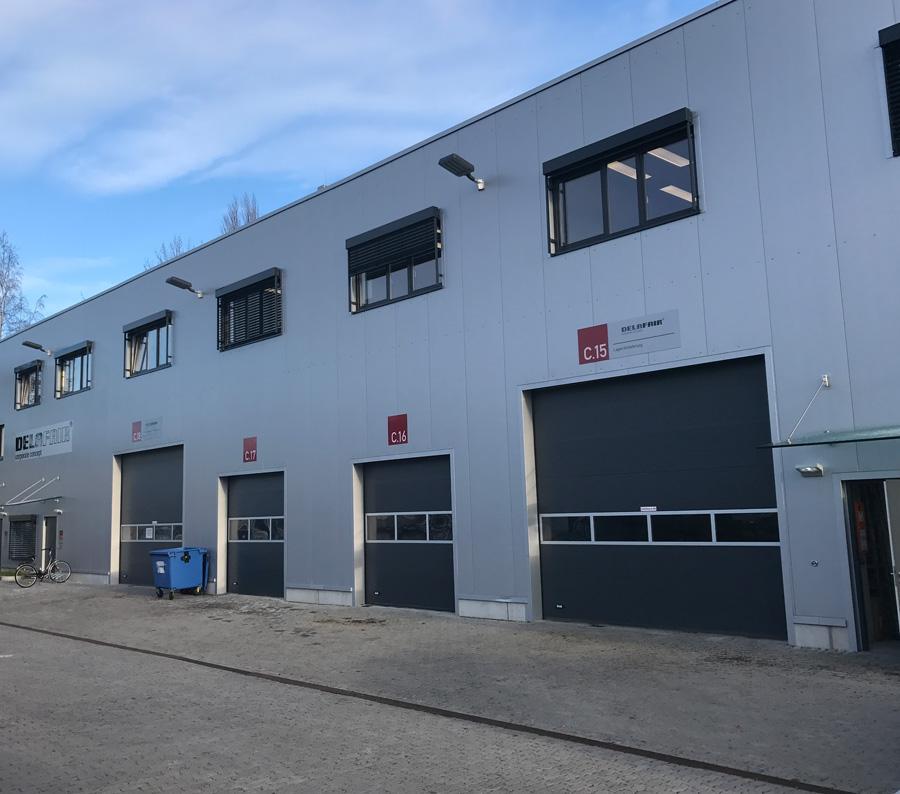 Delafair - Firmengebäude Außenansicht