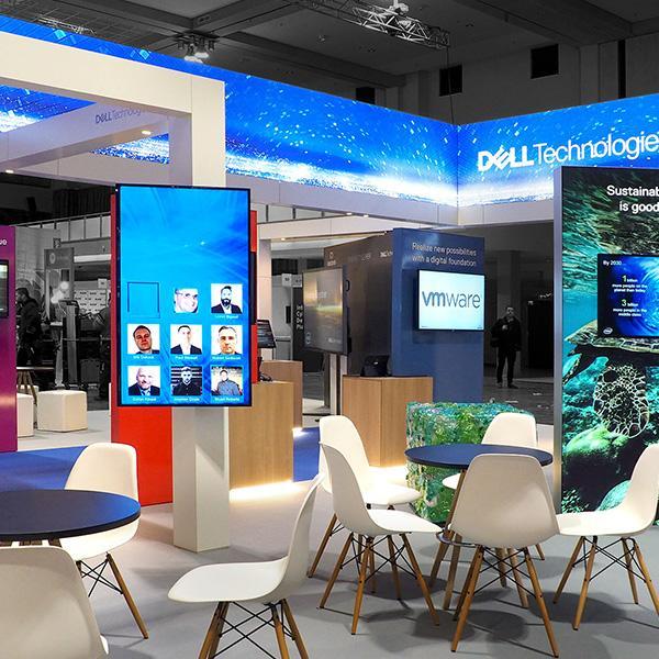 Delafair Messebau - Messestand von Dell Technologies