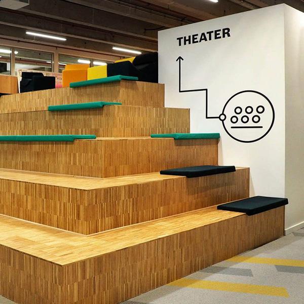 Delafair Innenausbau - exklusive Möbel - Sitztreppe aus Holz